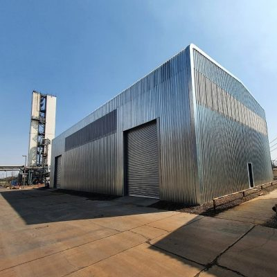 JTC Building Systems was responsible for the design and detailing of this steel workshop facility at Air Products in Vanderbijlpark.